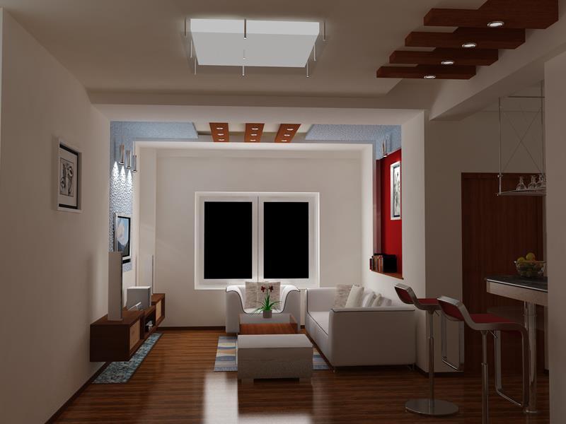 Làm trần thạch cao phòng khách