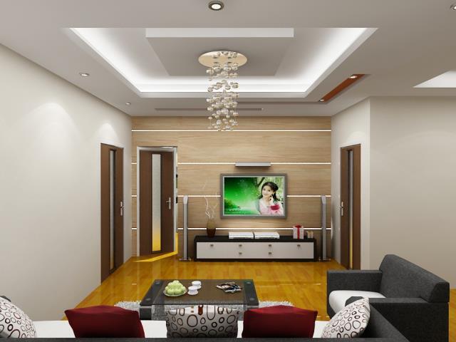 Trần thạch cao phòng khách chung cư