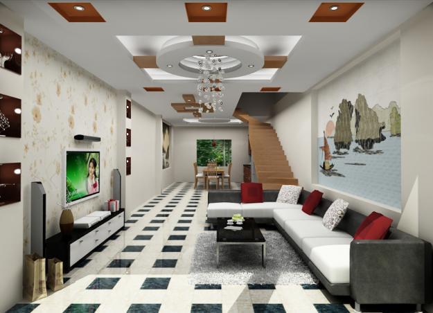 Thiết kế trần thạch cao phòng khách đẹp