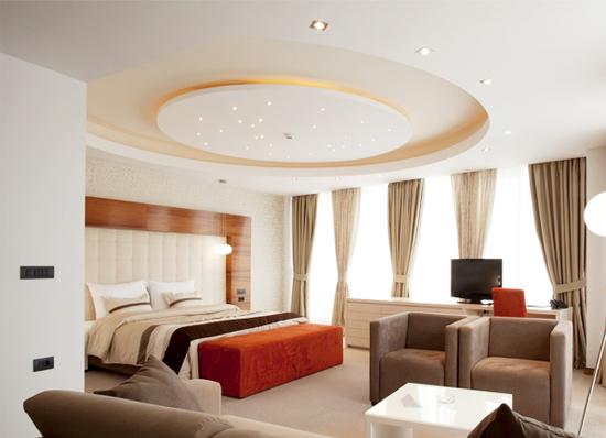 Trần thạch cao phòng ngủ chung cư đẹp