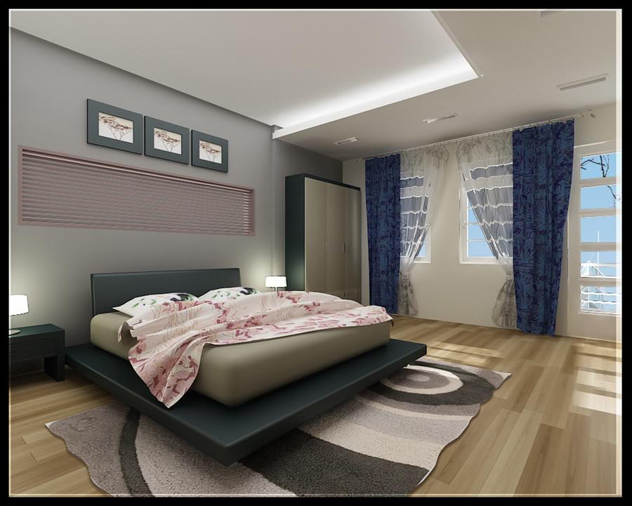 Mẫu trần thạch cao phòng ngủ hiện đại