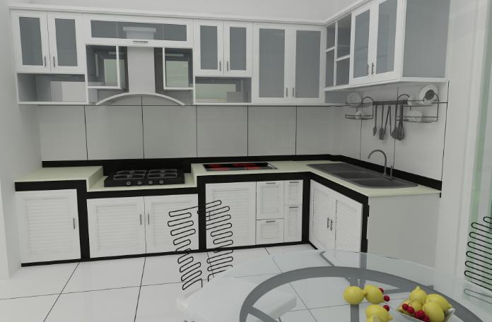 Kết quả hình ảnh cho tủ bếp nhôm kính giá rẻ