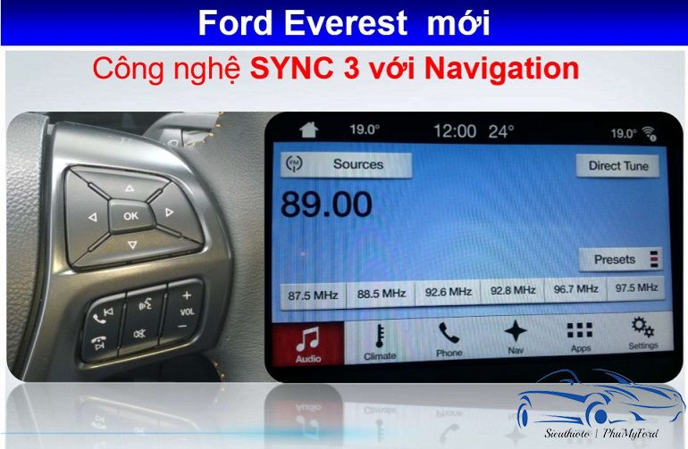 hệ thống sync 3 ford everest 2019