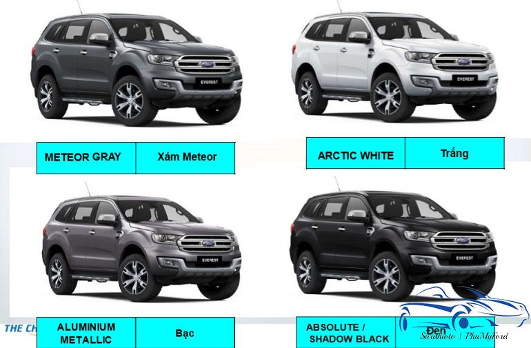 mau sac ford everest 2019