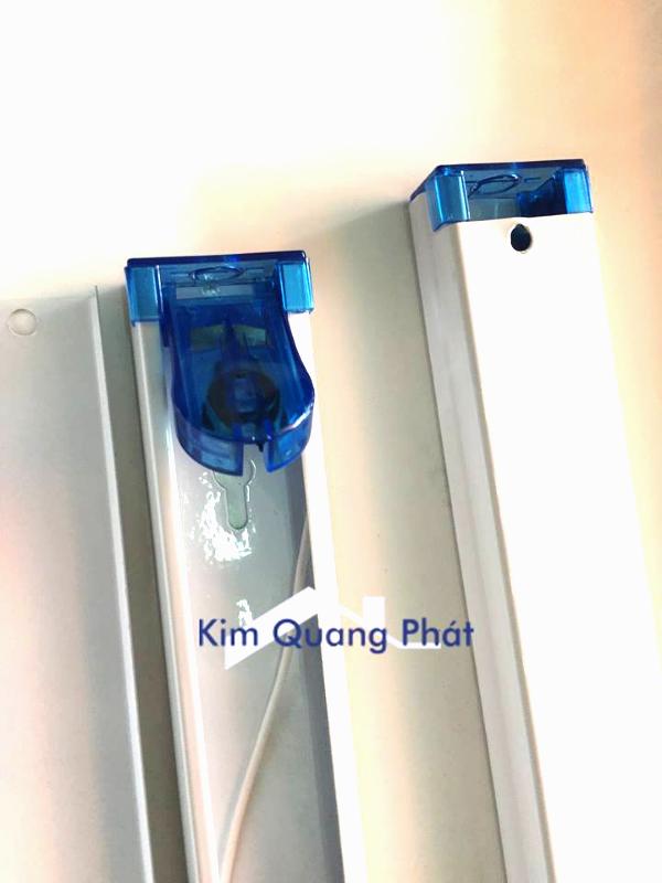 Máng đèn led 1m2 gập xanh zenda lõi đồng