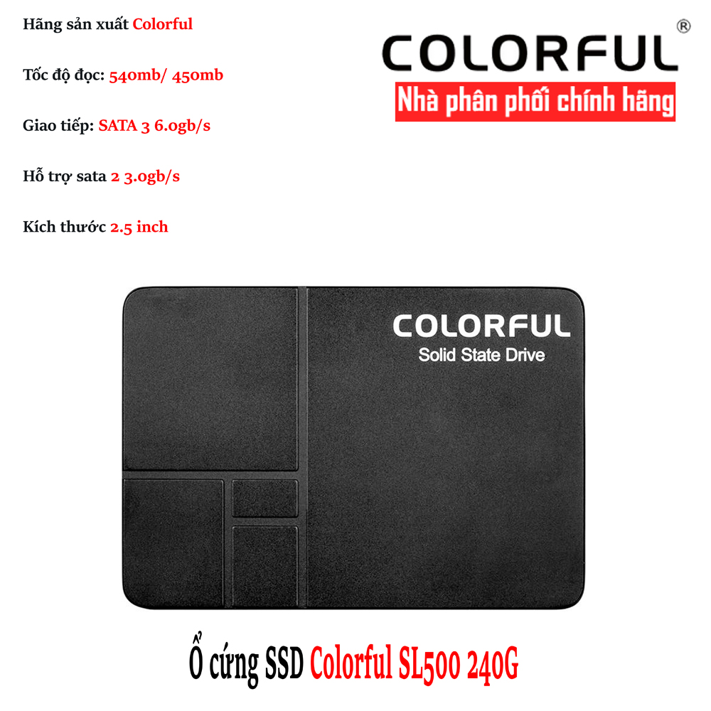 Ổ cứng SSD Colorful SL500 240Gb