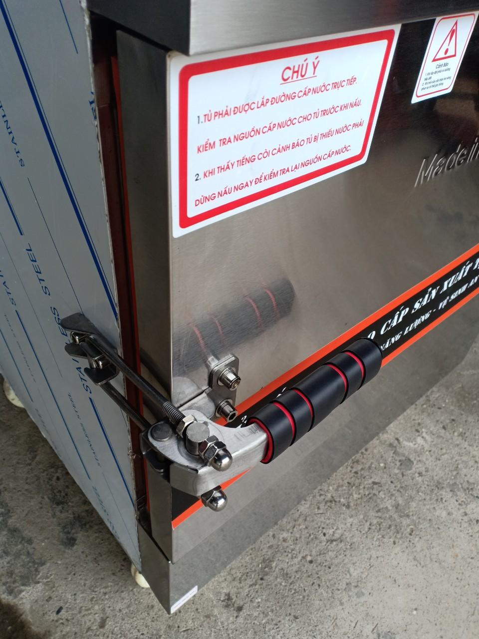 Tủ Cơm 8 Khay Kết Hợp Ga - Điện Điều Khiển Cảm Ứng