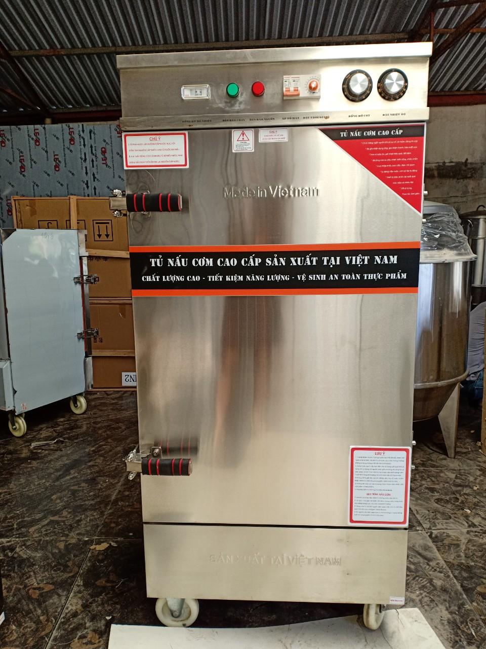 Tủ nấu cơm điện 10 khay hẹn giờ Aptomat 2020