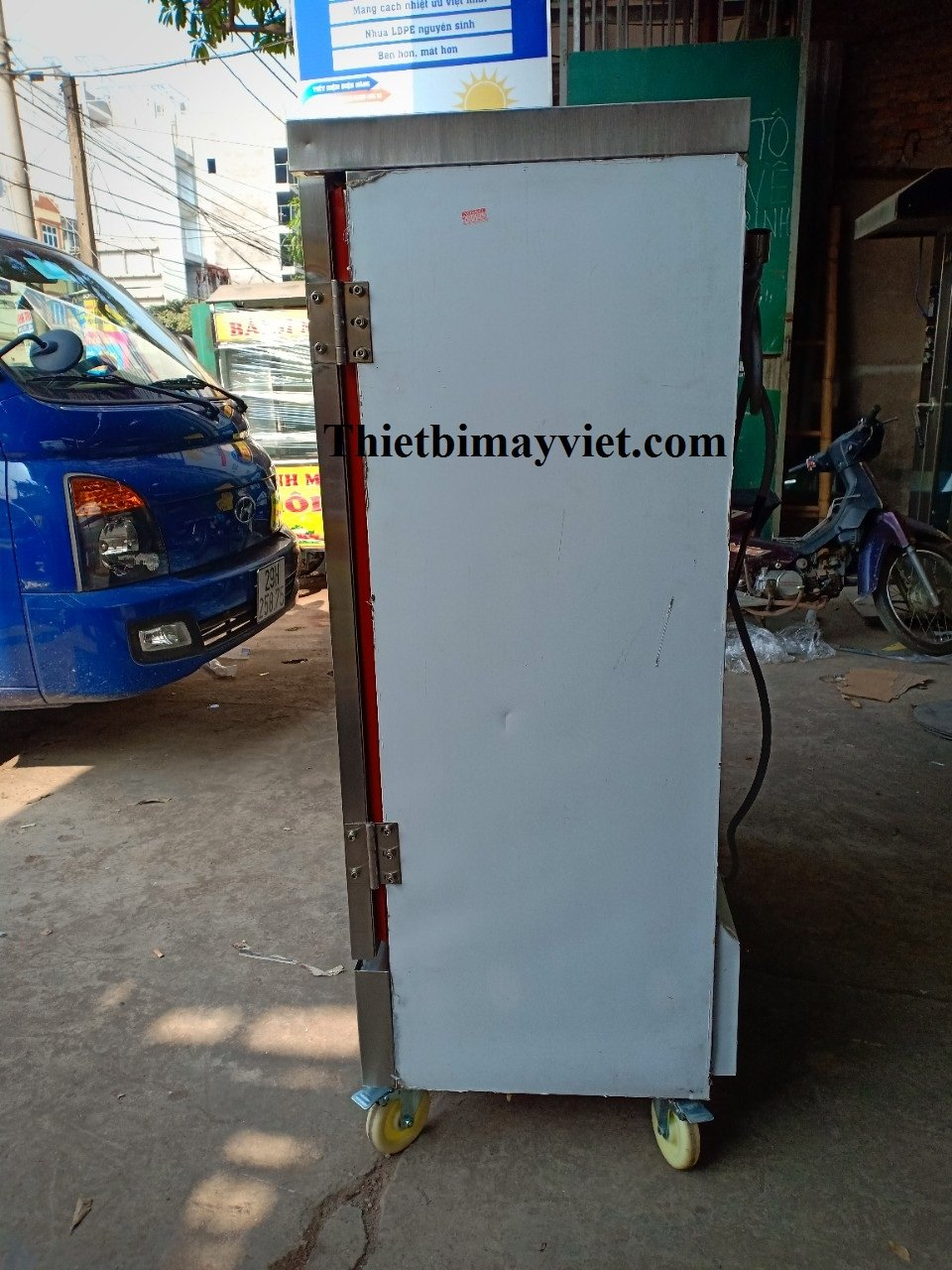 Tủ Cơm 24 Khay Kết Hợp Ga - Điện Điều Khiển Cảm Ứng
