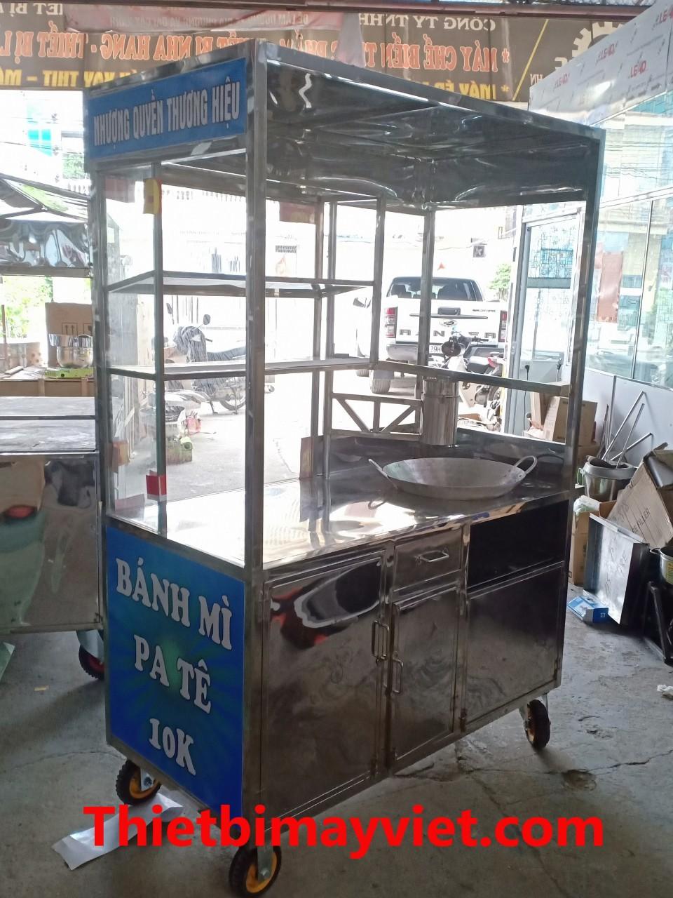Xe Bánh Mì Kết Hợp Bán Chả Cá 1m2