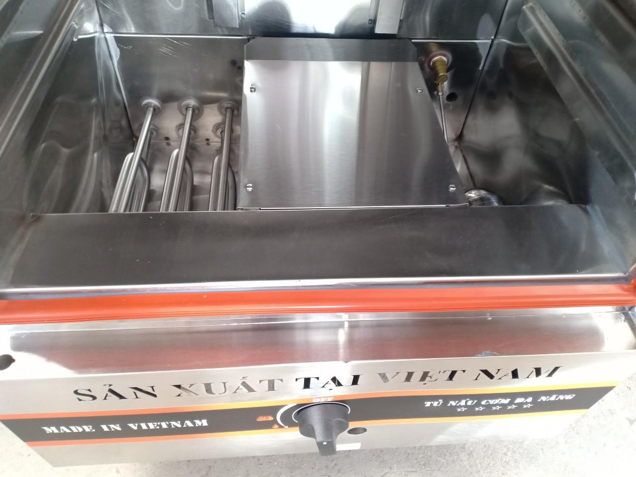 Tủ Nấu Cơm 12 Khay Dùng Gas
