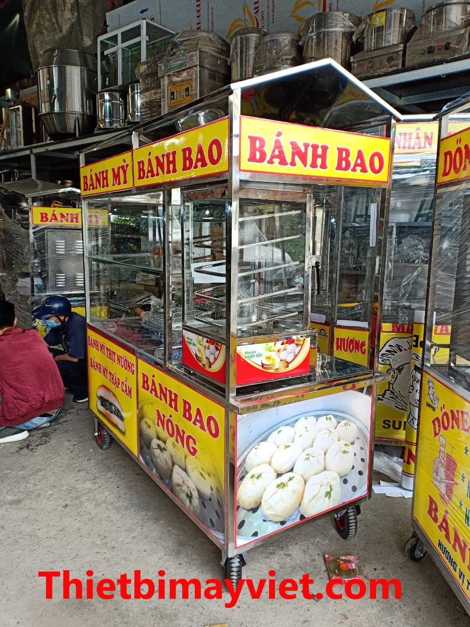 Xe Bánh Mì Kết hợp Vói Xe Bánh Bao 1m6