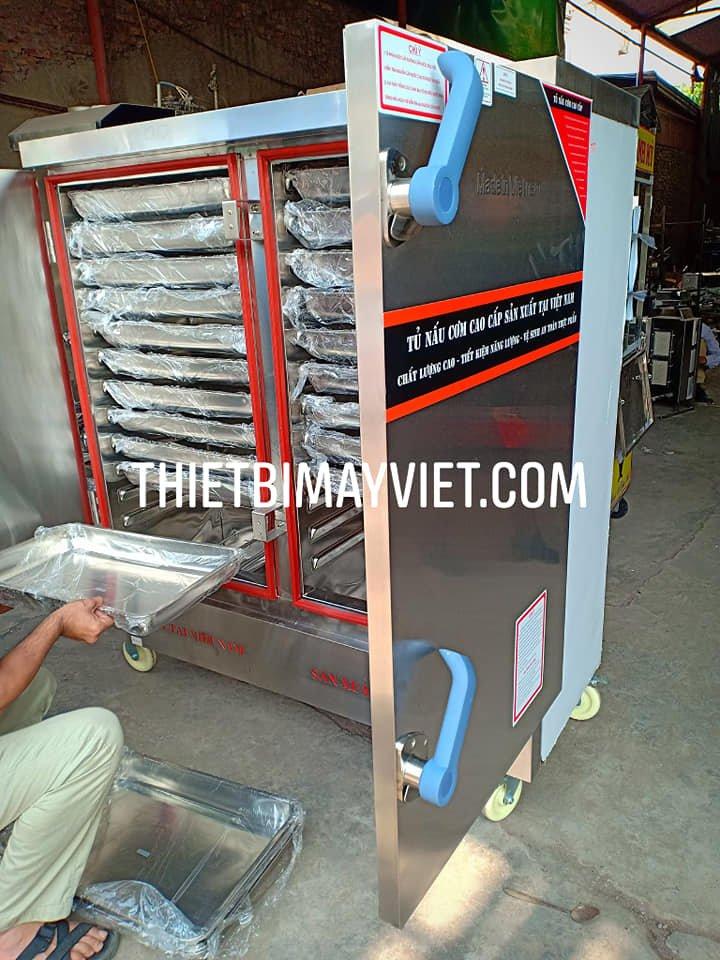 Tủ Nấu Cơm 24 Khay Kết Hợp Ga Điện Hẹn Giờ Aptomat Vinaki 2020