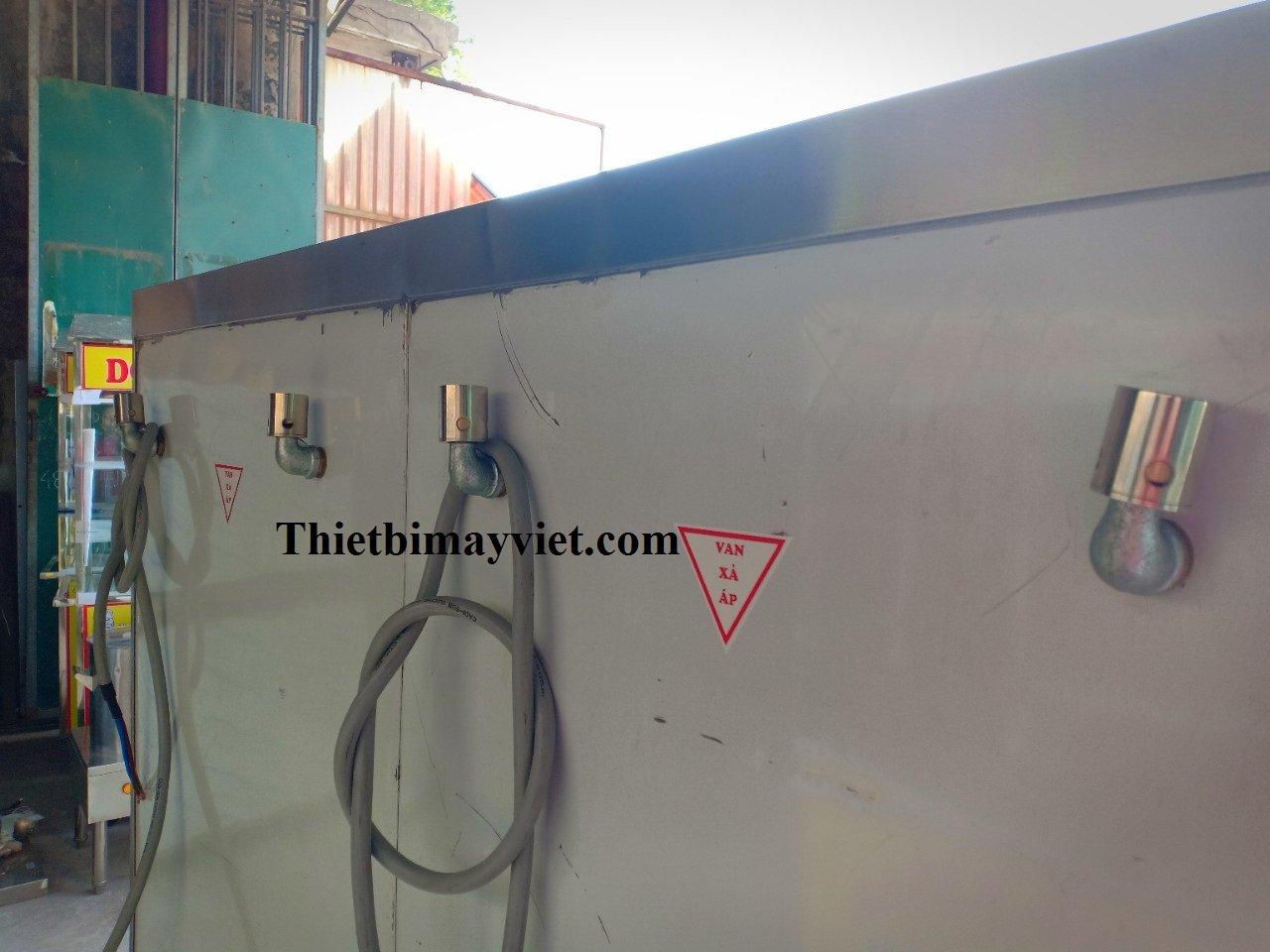 Tủ Nấu Cơm Điện 24 Khay Hẹn Giờ Aptomat, Đồng Hồ Báo Nhiệt Độ