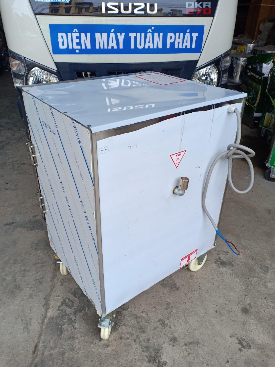 Tủ Nấu Cơm 6 Khay Kết Hợp Ga - Điện Hẹn Giờ Bằng Cơ Và Aptomat