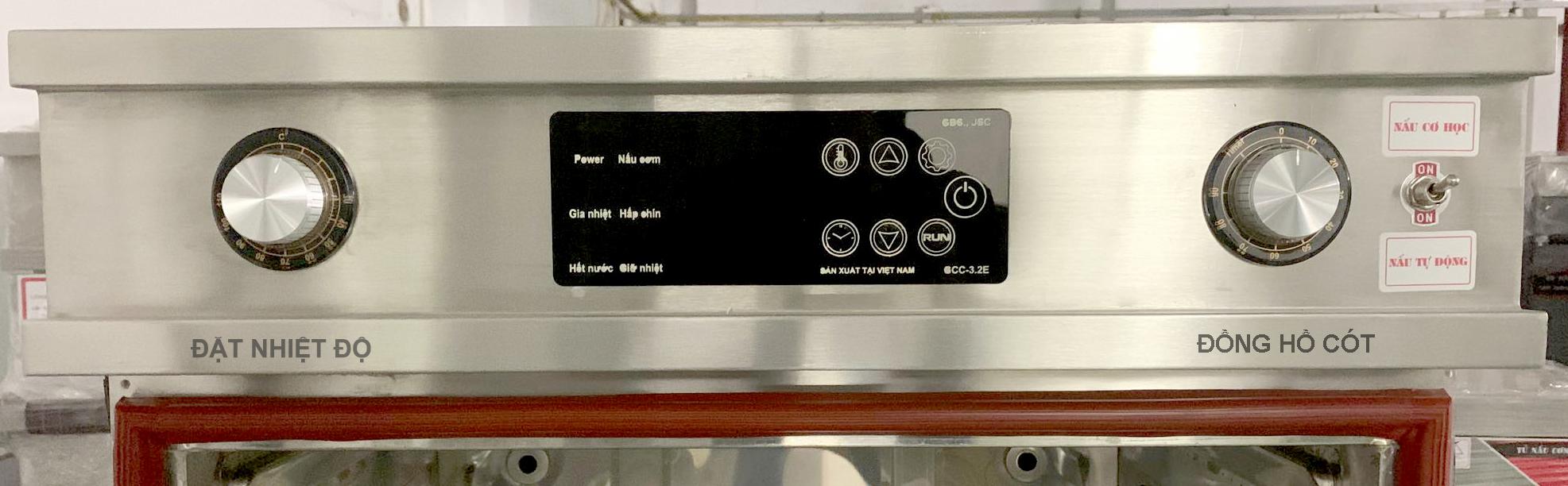 Tủ nấu cơm 6 khay dùng điện