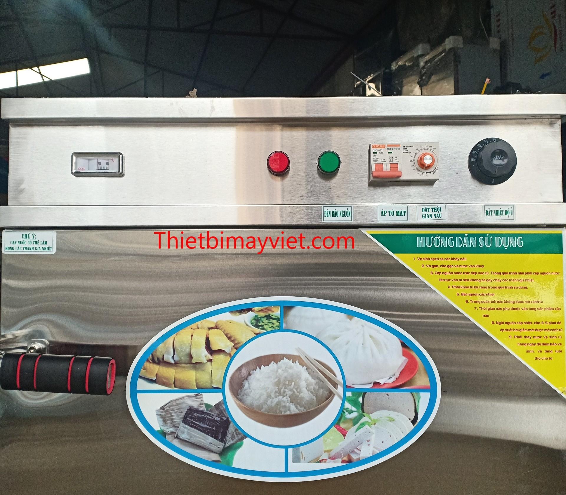 Tủ cơm 12 khay Việt Nam Tem Vàng