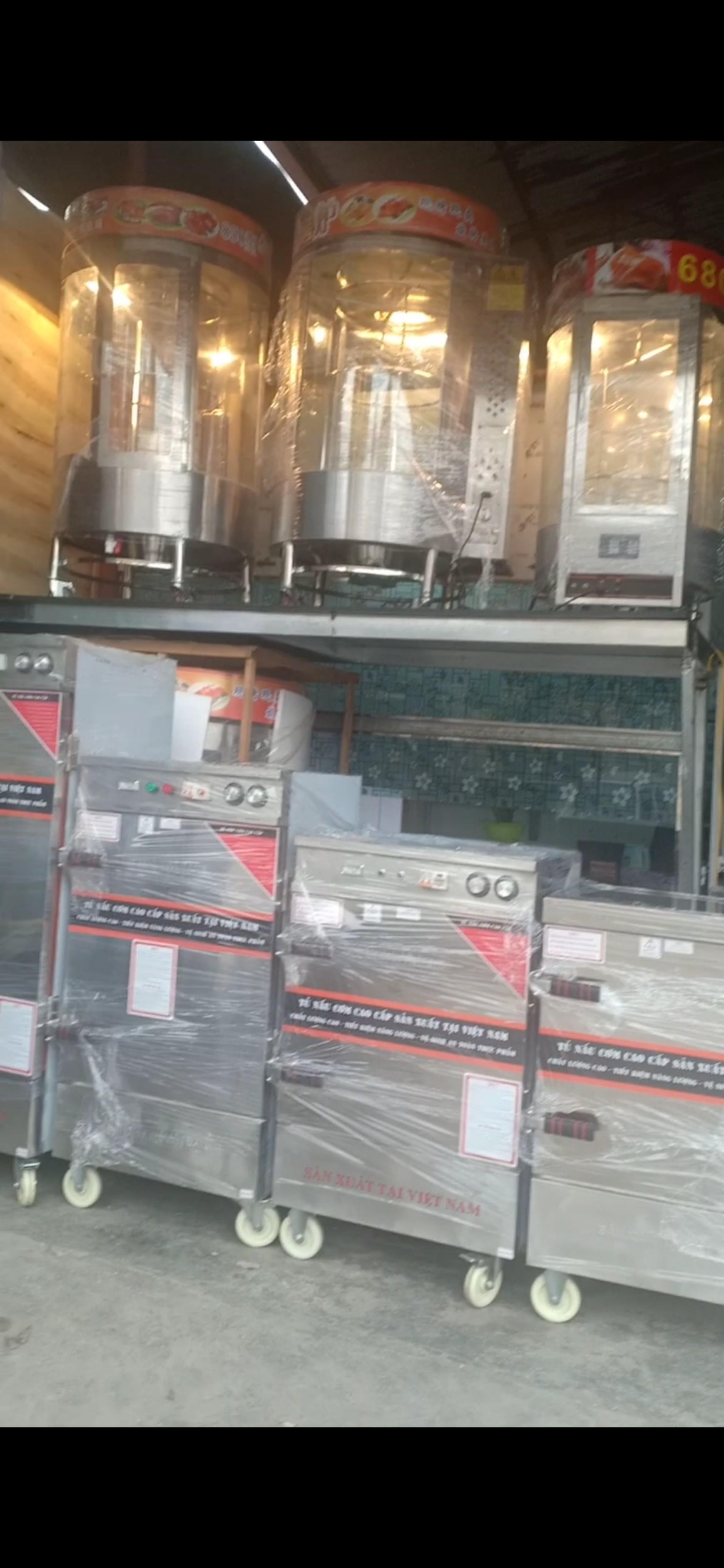 Tủ Nấu Cơm Điện 12 Khay Có 2 Chế Độ Hẹn Giờ Bằng Cơ Và Aptomat