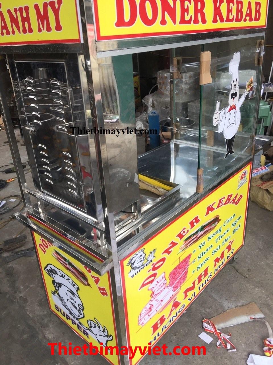 Xe Bánh Mì Doner Kebab 60x1m20x1m80
