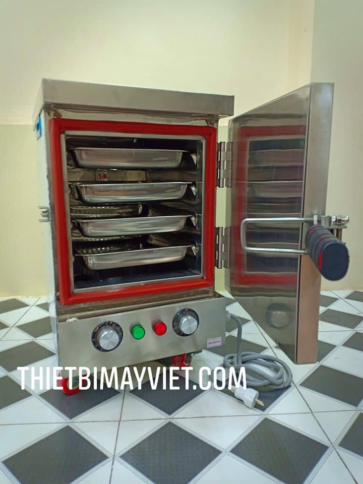 Tủ Nấu Cơm 4 Khay Mini Dùng Điện Hẹn Giờ Bằng Cơ