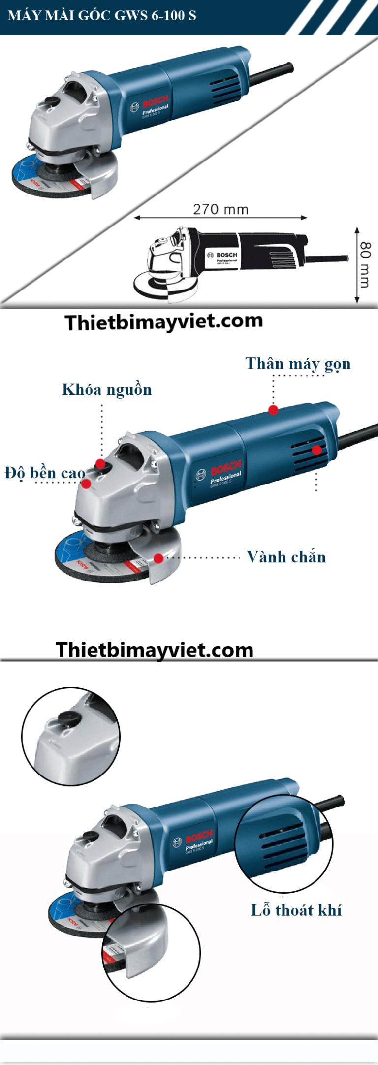 Máy mài Bosch GWS 6 - 100