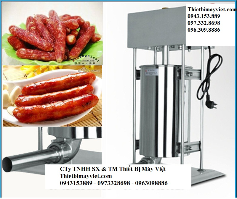 Máy đùn thịt xúc xích điện 10L, máy nhồi xúc xích tự động giá rẻ
