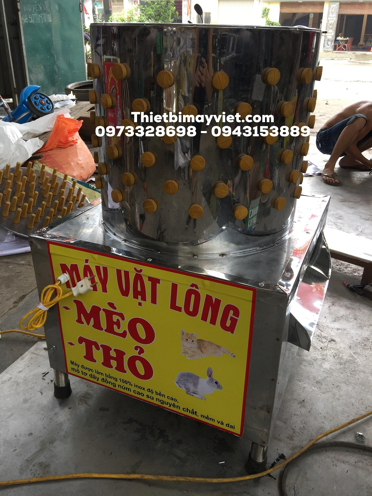 Máy vặt lông mèo thỏ Tuấn Phát