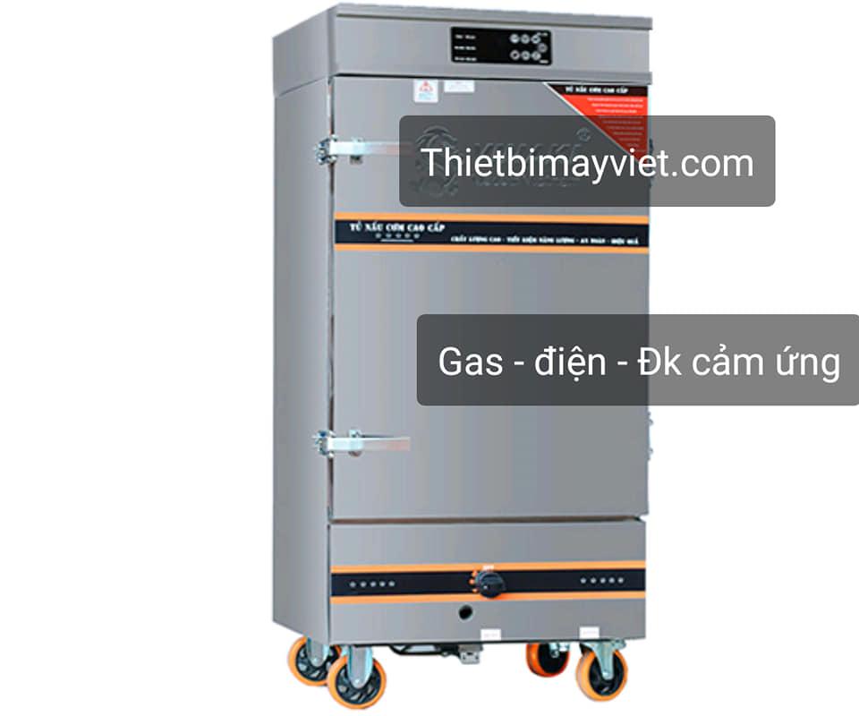 Tủ cơm công nghiệp kết hợp ga & điện có điều khiển cảm ứng