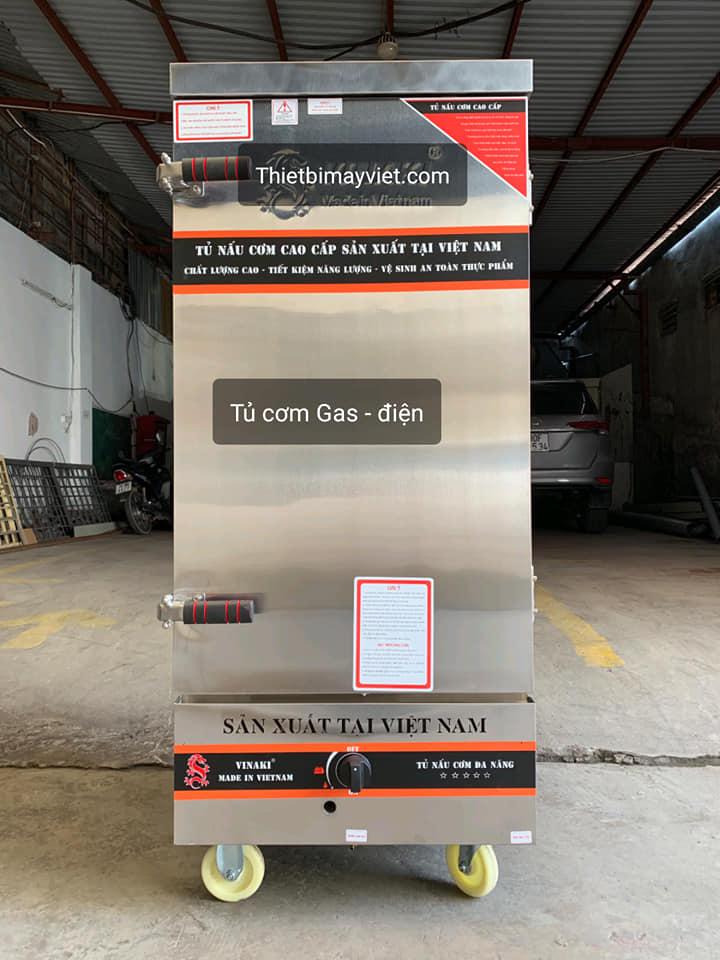 Tủ cơm công nghiệp kết hợp ga và điện