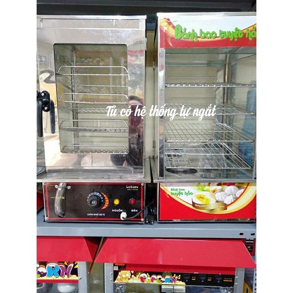 Tủ trưng bày bánh bao bằng điện có hệ thống tự ngắt