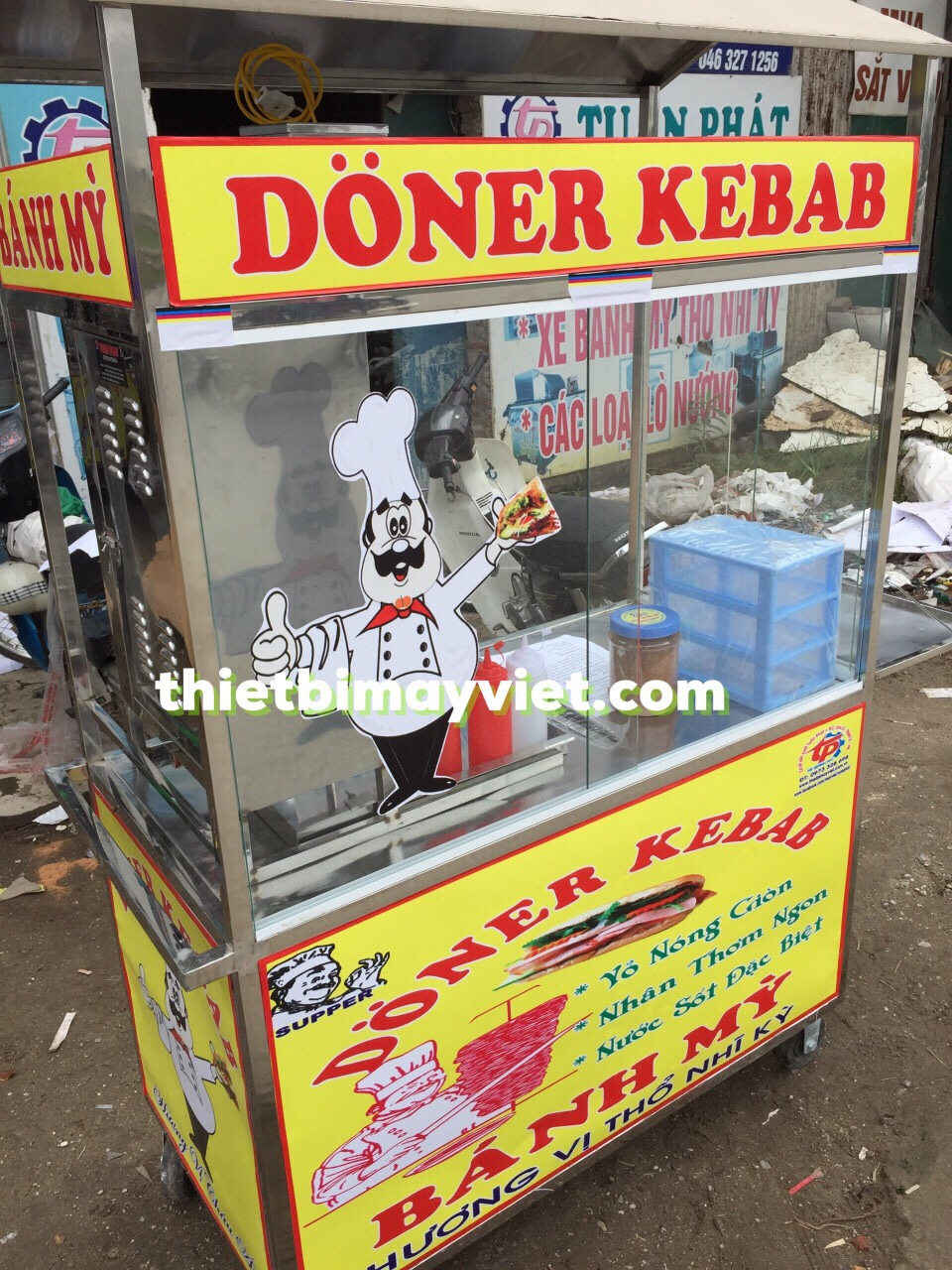 Xe bánh mì Doner Kebab 60x90 Tuấn Phát