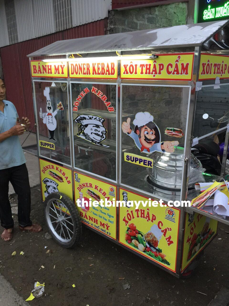 Xe bánh mì Doner Kebab kèm bán xôi 1m8