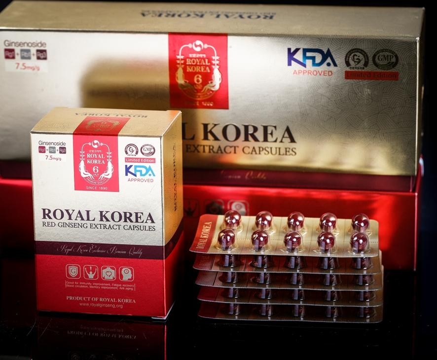 Viên nhộng tinh chất hồng sâm Hàn Quốc Royal Korea