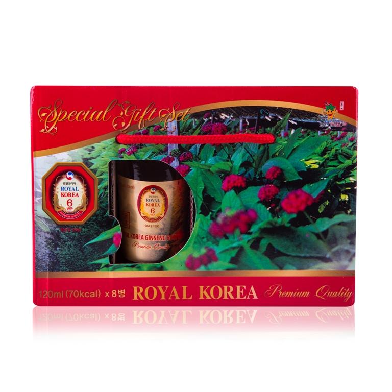 Nước uống bổ dưỡng nhân sâm ROYAL KOREA (Hộp 8 chai x 120ml)