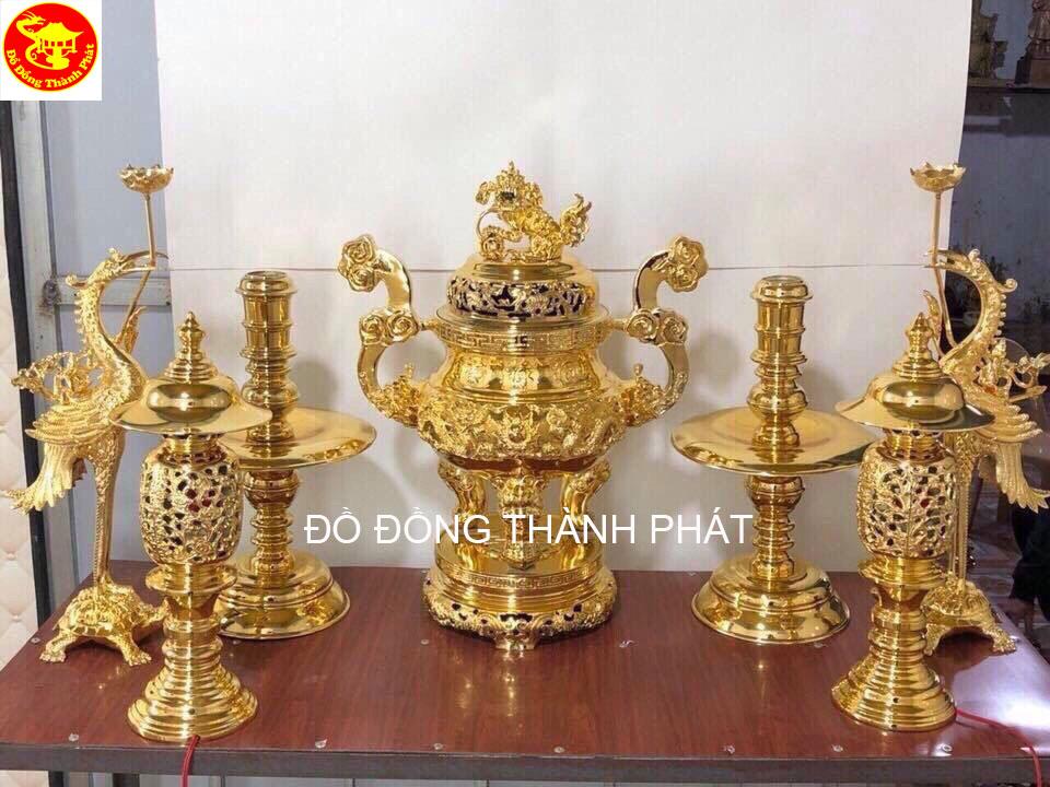 bộ thờ cúng mạ vàng
