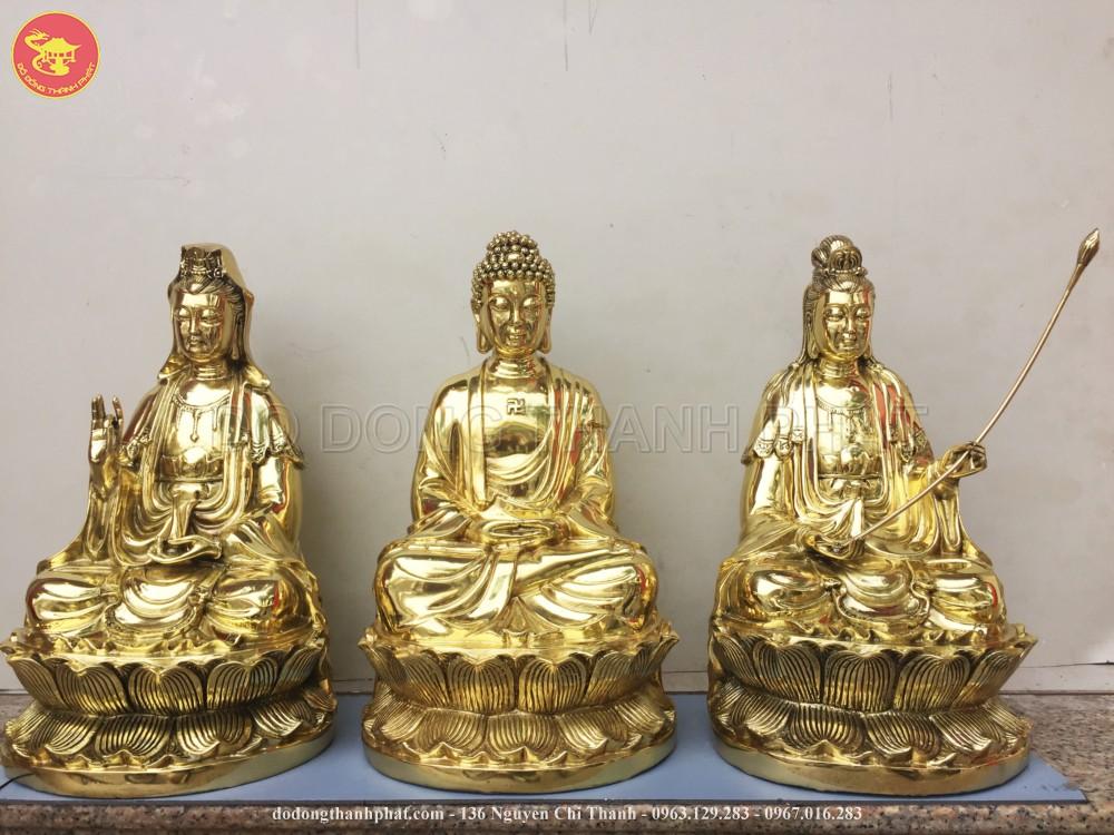 Bộ Tượng Đồng Phật Tam Thánh Tây Phương