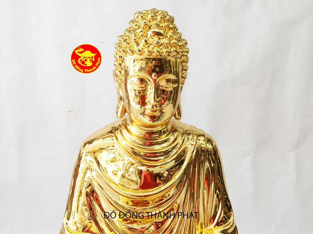 bán tượng phật bằng đồng mạ vàng 24 k