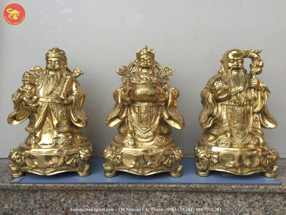Bộ tượng đồng tam đa Phúc Lộc Thọ cao 20 cm