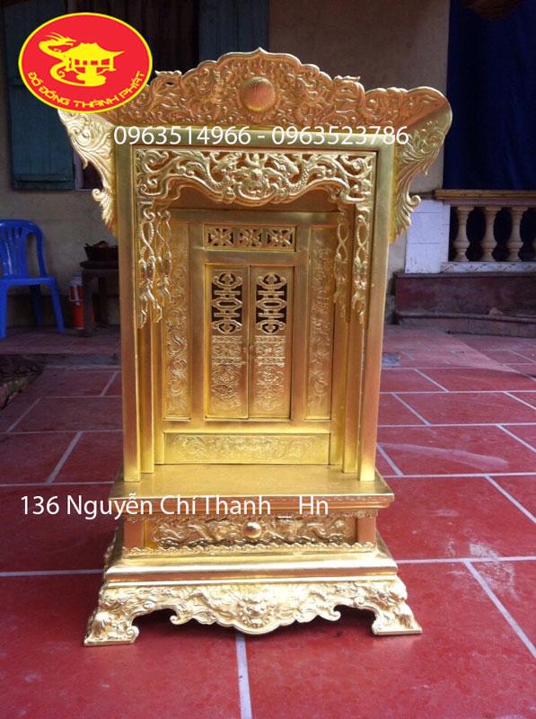 Khám Thờ Cúng Bằng Đồng vàng trạm tay