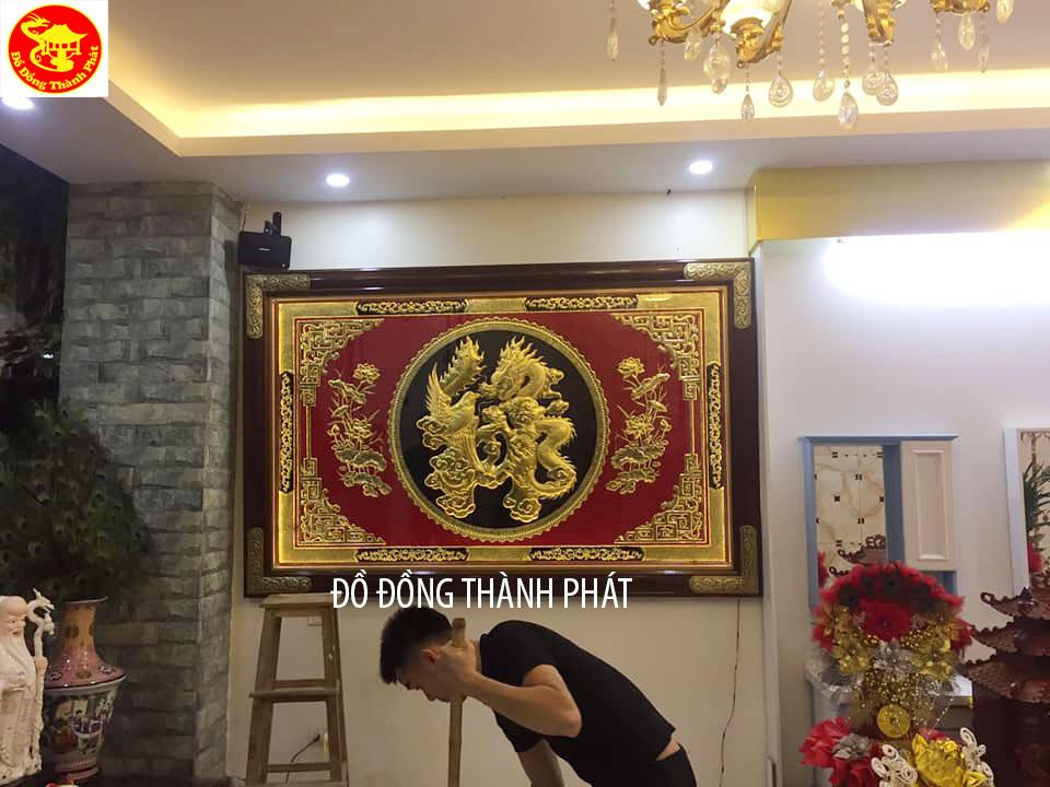 Tranh Chữ Lộc Hóa Long Hóa Phụng Mạ Vàng 9999