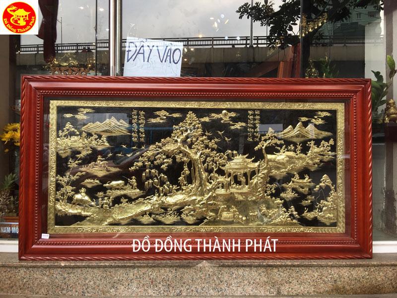 tranh đồng mỹ nghệ Tranh Đồng Quê.