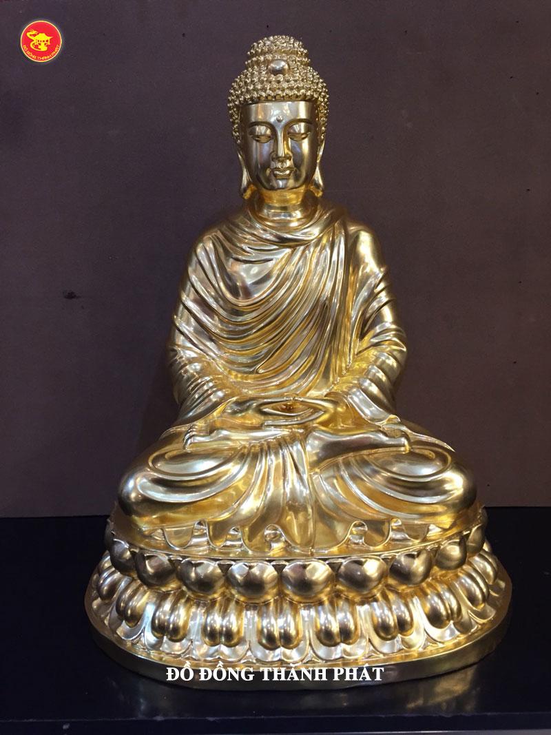 Tượng đồng Phật Thích Ca Mâu Ni dát vàng