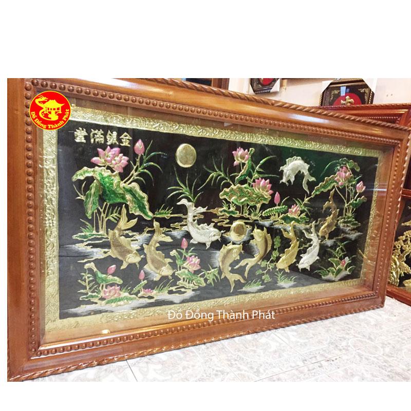 Tranh Đồng Cửu Ngư Quần Hội| Địa Chỉ Bán Tranh Đồng Hà Nội,Đà Nẵng,HCM