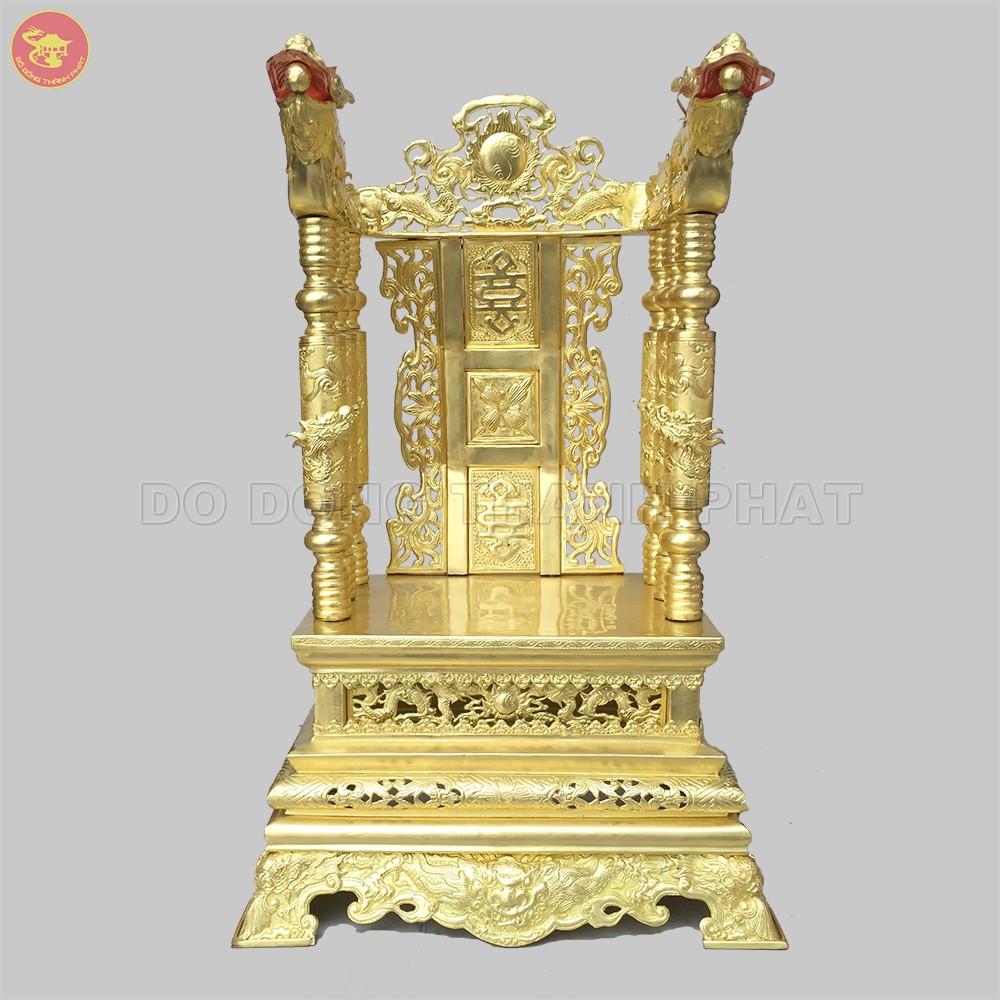 Ngai thờ long phụng bằng đồng cao 90cm