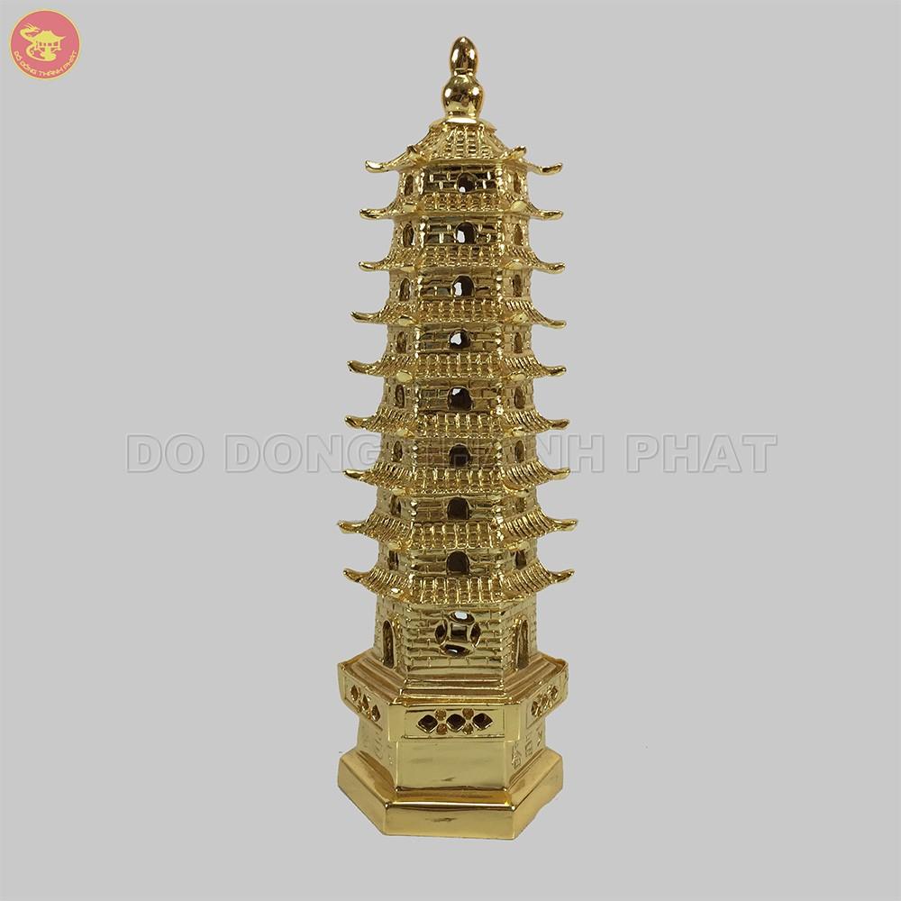 Quà tặng bằng đồng mạ vàng Tháp Văn Xương cao 18 cm