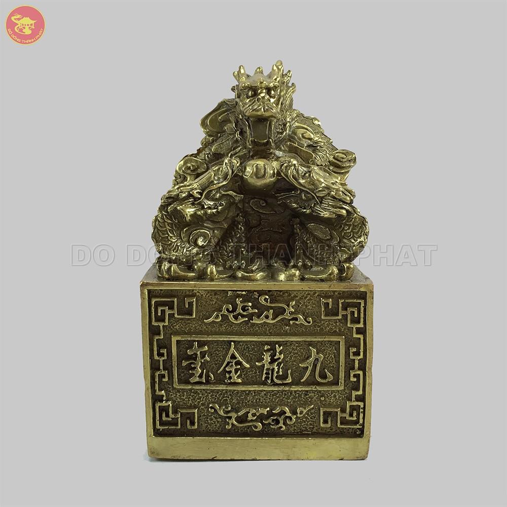 Quà tặng bằng đồng Ấn Rồng Cửu Long