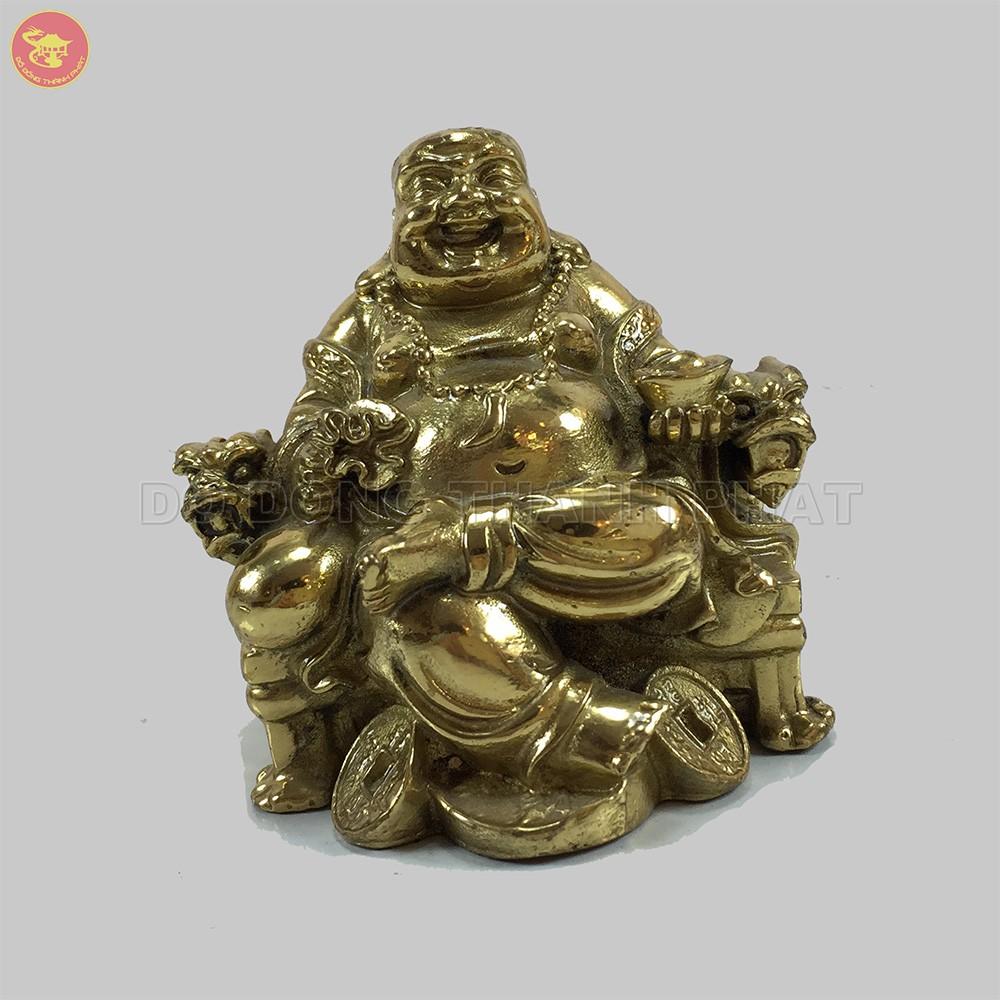 Tượng Phật Di Lạc Cao 8 cm Bằng Đồng Vàng