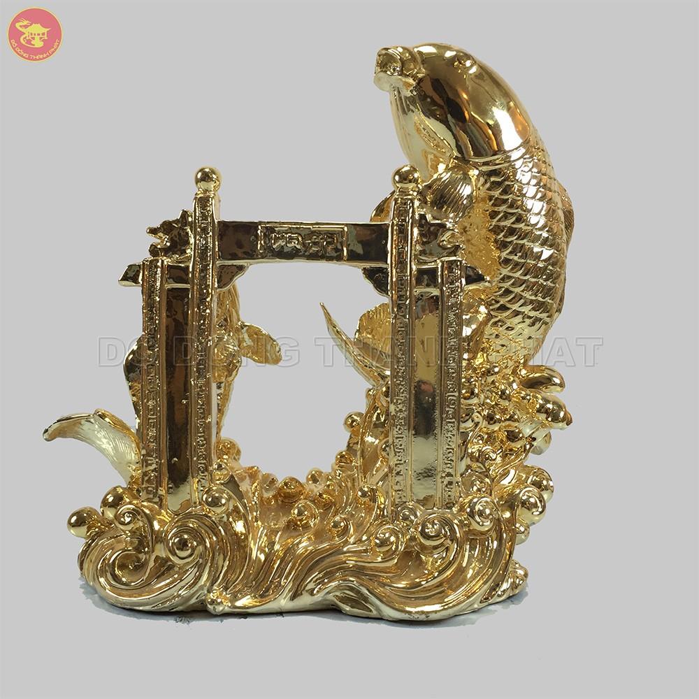 Quà tặng bằng đồng Cá Chép Vượt Vũ Môn mạ vàng 24k