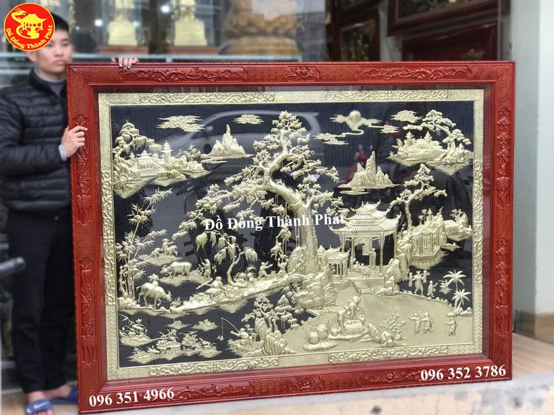 Tranh Đồng Quê Bằng Đồng Vàng Đẹp Bán Tại Hà Nội, Đà Nẵng, Sài Gòn