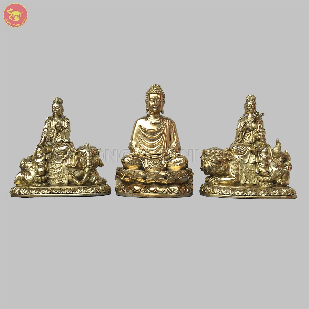 Địa chỉ bán Bộ tượng phật Văn Thù Phổ Hiền Bồ Tát và phật Thích Ca Mâu Ni đẹp